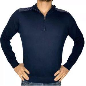 HUGO BOSS Virgin Wool Black Sweater | L